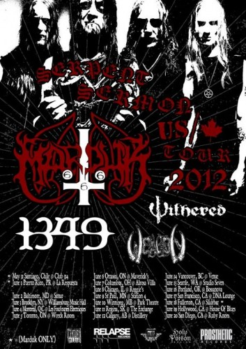 Serpent Sermon Tour 2012 feat Marduk – REVIEW