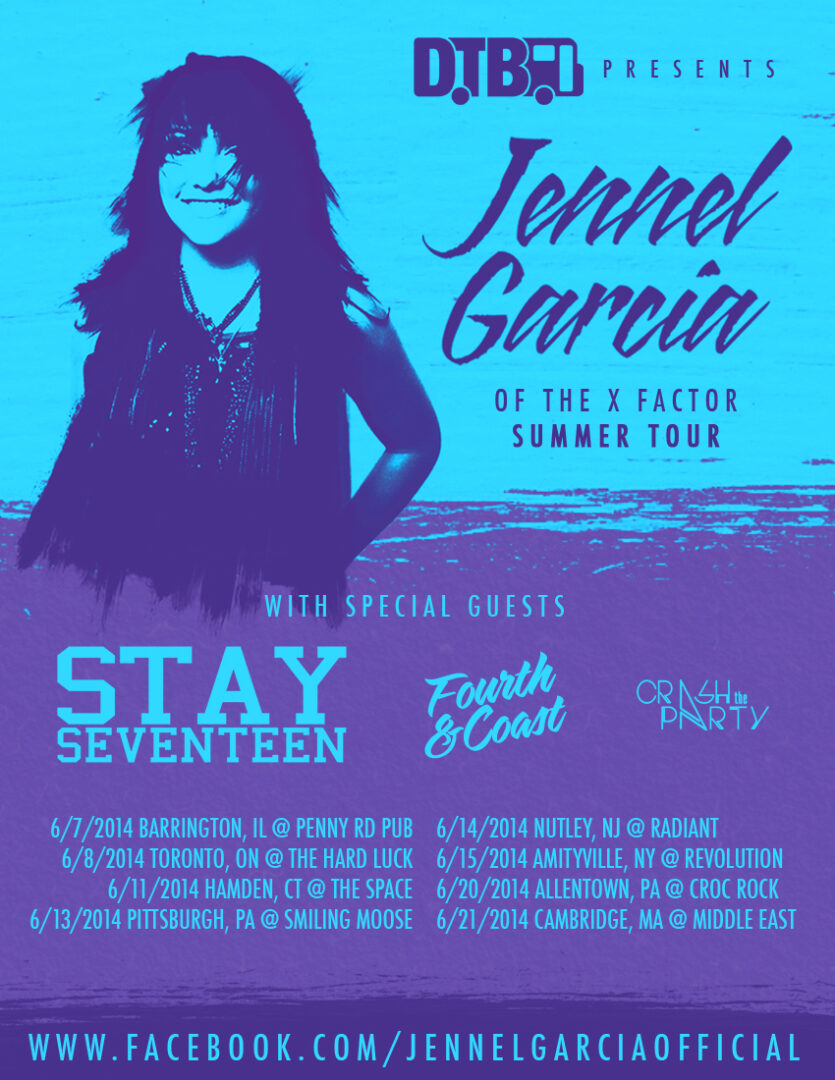 Jennel Garcia North American tour - poster