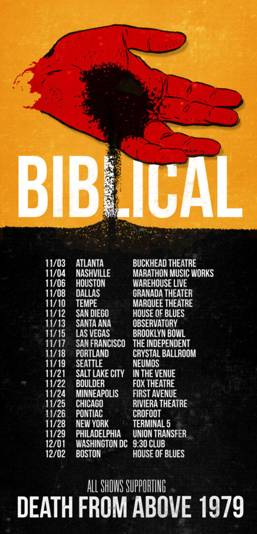 Biblical Tour With Death From Above 1979 - poster