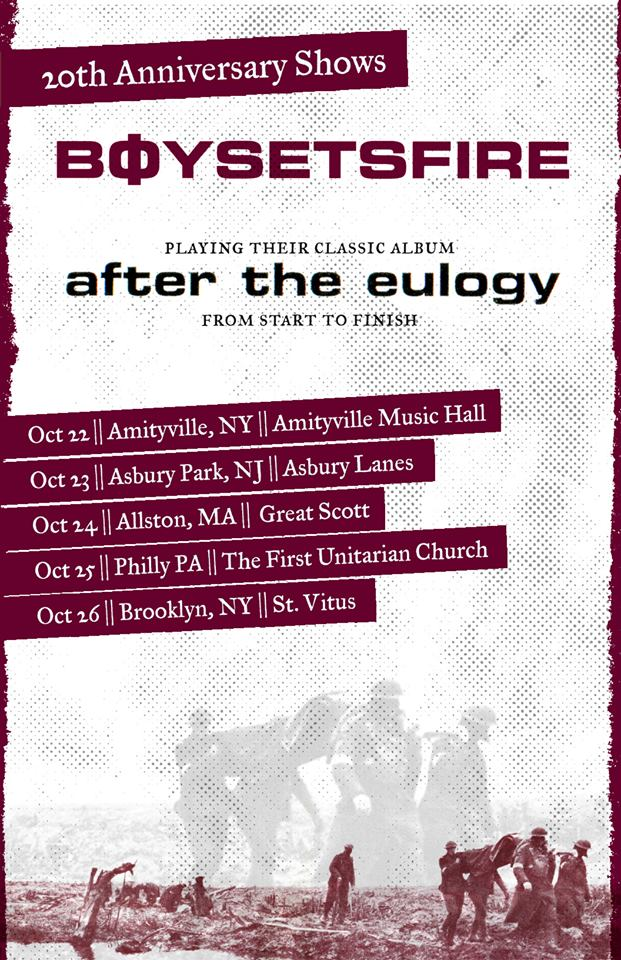 BOYSETSFIRE - After The Eulogy Tour - poster