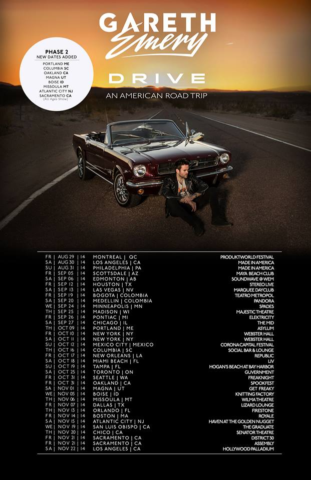 Gareth Emery Adds Dates To Quot Drive An American Road Trip