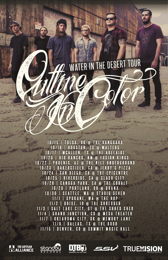 Outline In Color - Water In The Desert Tour - poster