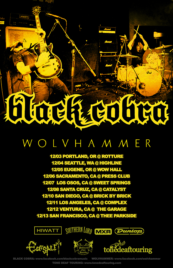 Black Cobra - West Coast Tour - poster
