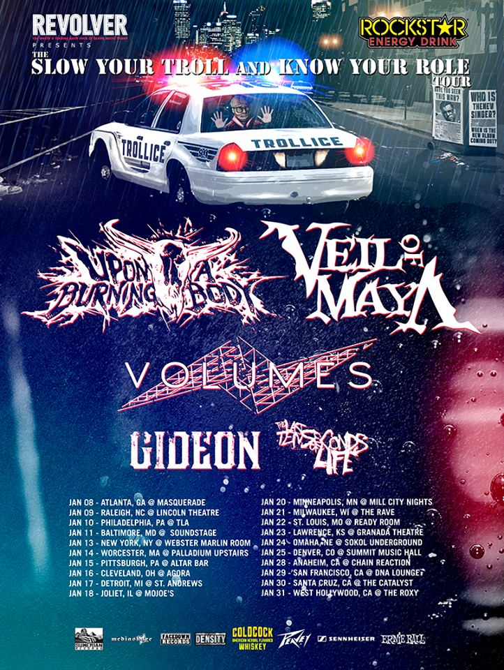 """Upon A Burning Body & Veil of Maya's """"Slow Your Troll and Know Your Roll Tour"""" – GALLERY"""