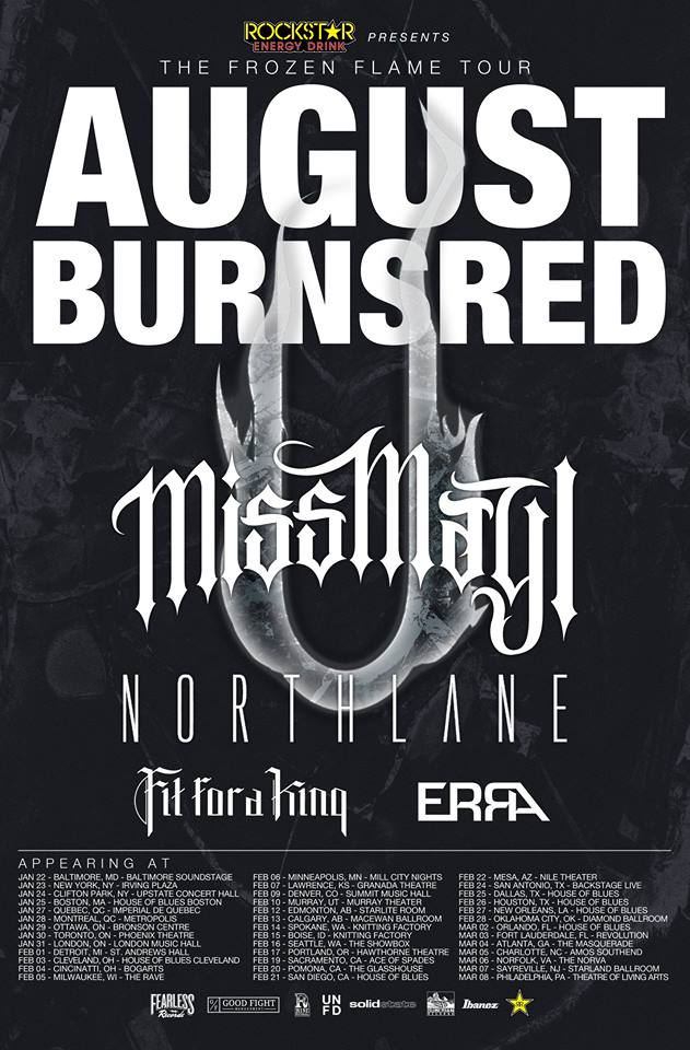 "August Burns Red ""The Frozen Flame Tour"" – GALLERY"