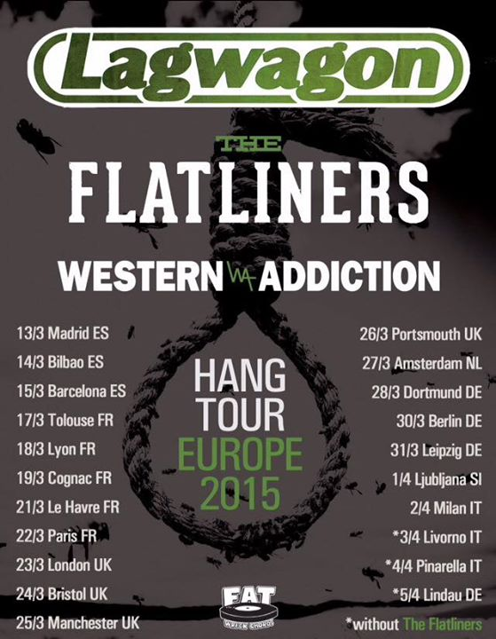 Lagwagon - European 2015 Tour - poster