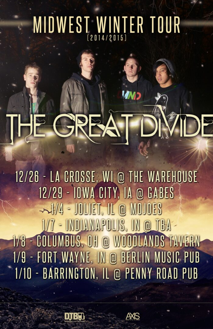 The Great Divide - Updated tour poster