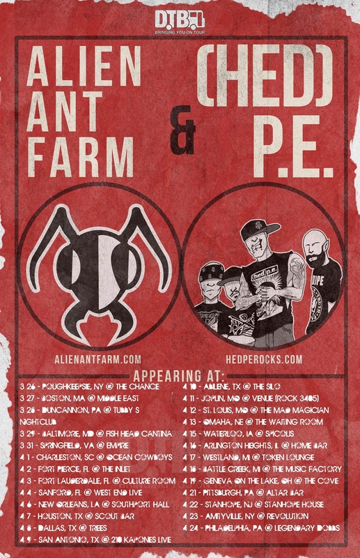 Alien Ant Farm and Hed PE - U.S. tour - poster