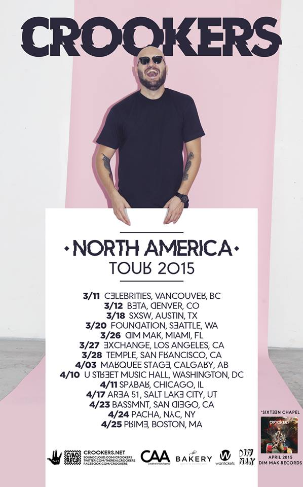 Crookers - North American Tour 2015 - poster