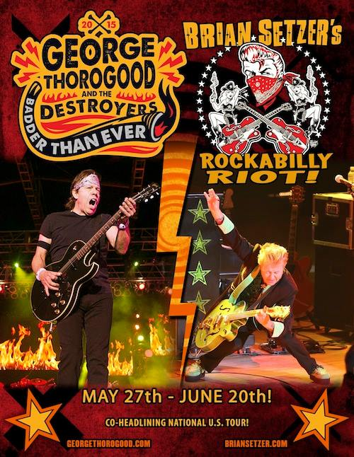 George Thorogood and Brian Setzer tour - poster