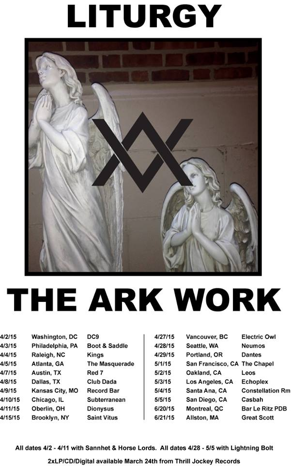 Liturgy - North American Spring Tour - poster