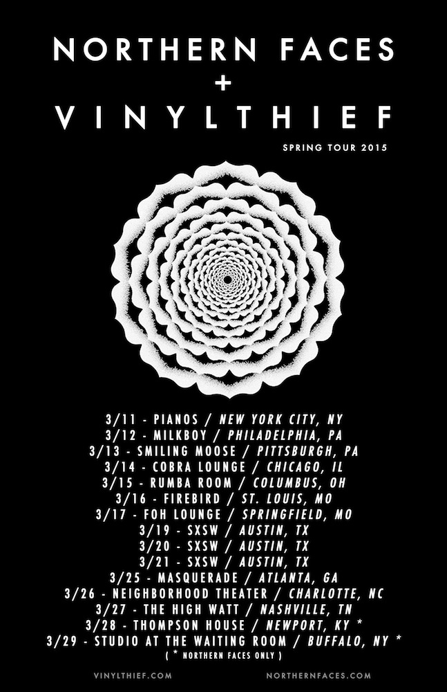 Northern Faces - Co-Headline U.S. Tour With Vinyl Thief - poster