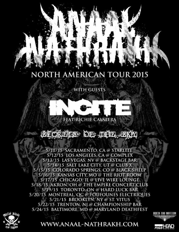Anaal Nakrath - 2015 tour poster