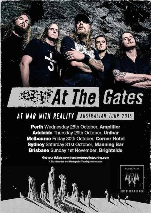 At The Gates - At War With Reality Australian Tour - Poster - 2015