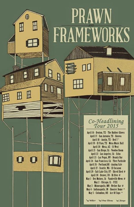 Frameworks with Prawn - U.S. Headlining Tour - Poster - 2015