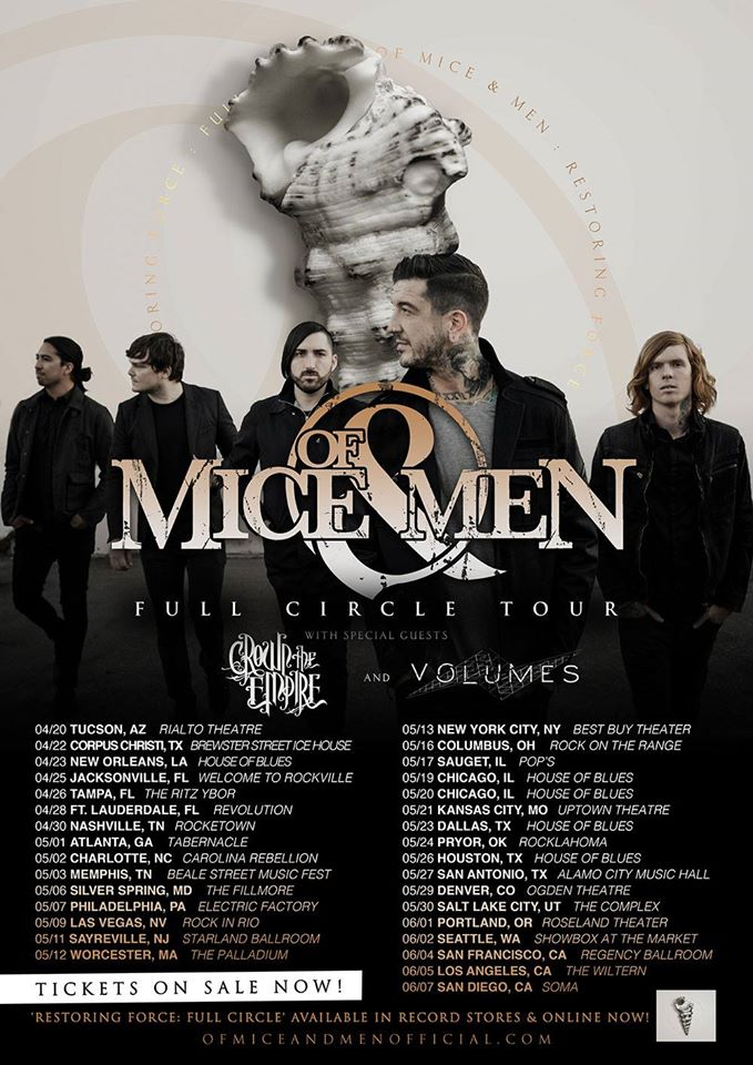 Of Mice & Men - Full Circle Tour 2015 - poster