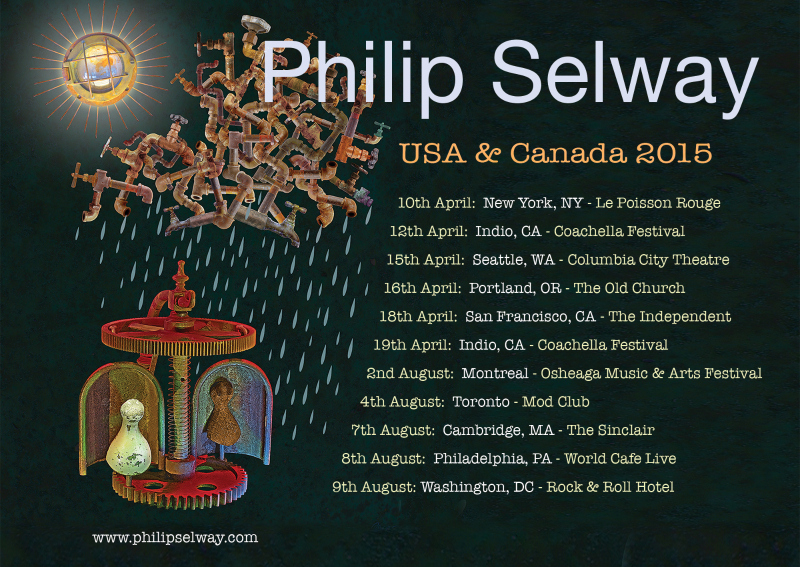 Philip Selway - U.S. Tour (2) - Poster - 2015