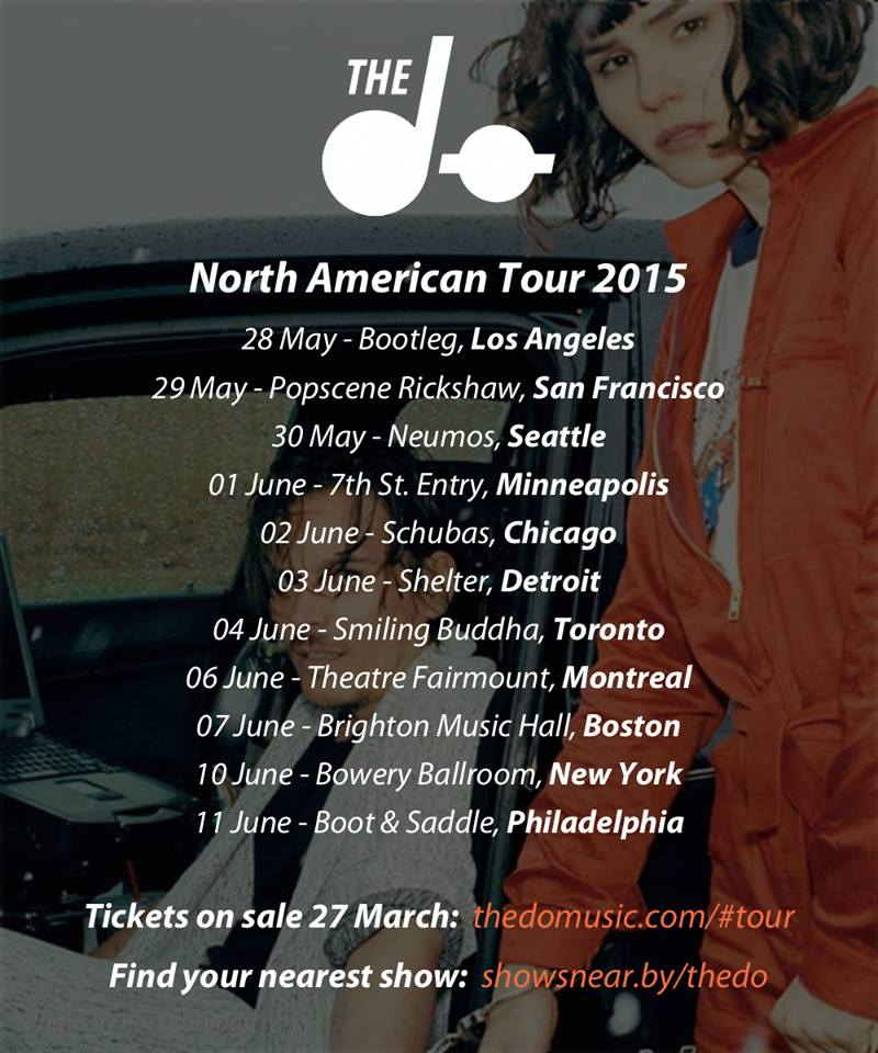 The Dø Announce North American Tour • Digital Tour Bus