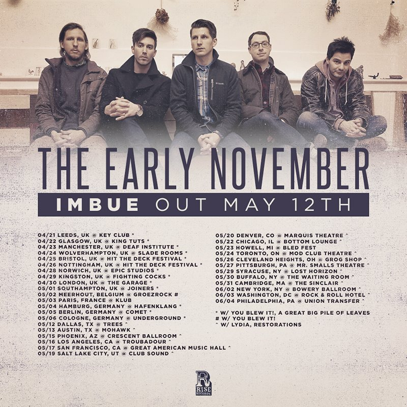 The Early November - spring 2015 tour - poster