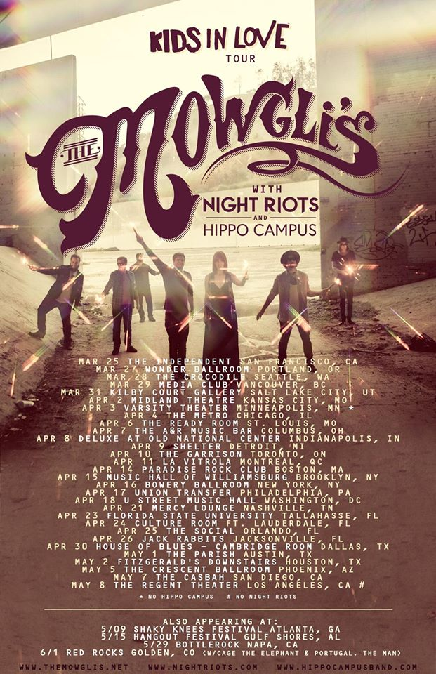 The Mowgli's - Kids In Love Tour - poster