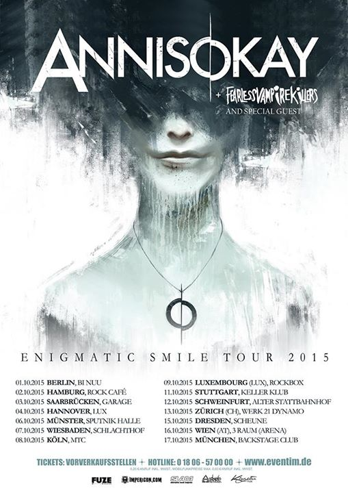 Annisokay- Anigmatic Smile Tour 2015