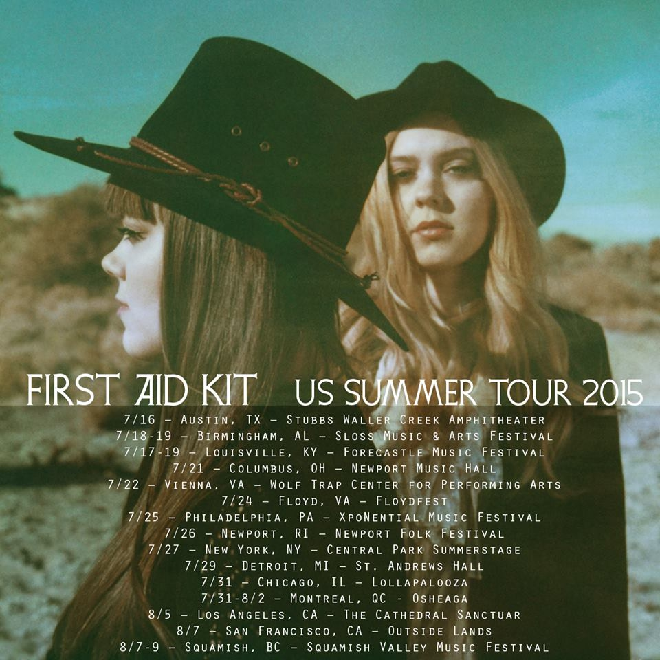 First Aid Kit- 2015 Summer Tour