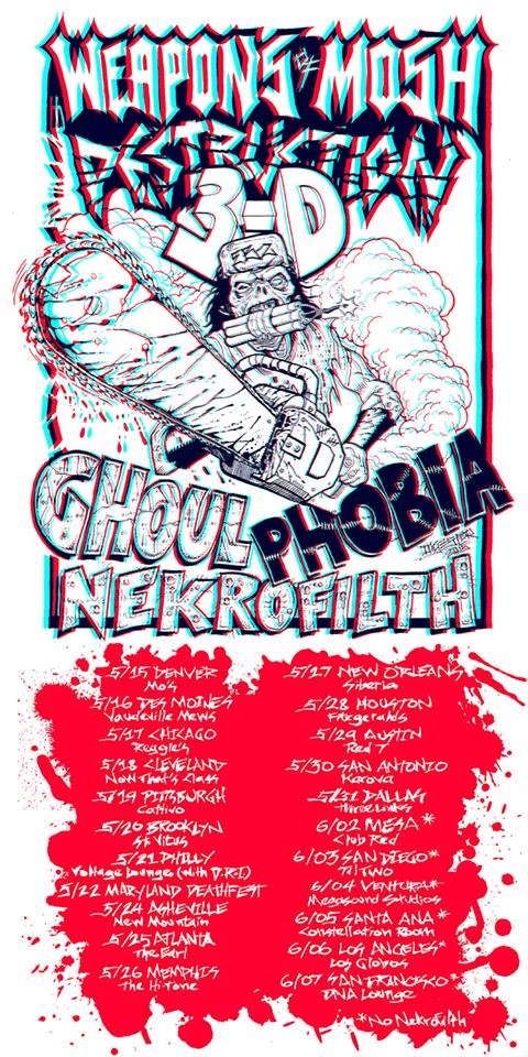 Ghoul-Weapons-Of-Mosh-Destruction-Tour-poster