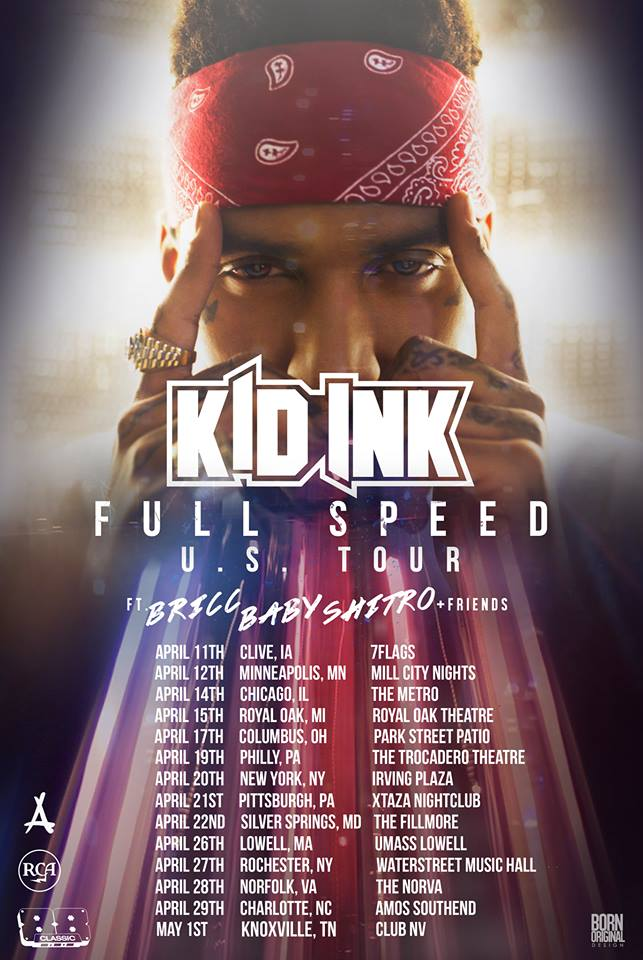 Kid Ink - Full Speed U.S. Tour - poster