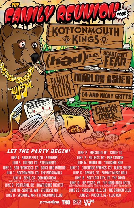 Kottonmouth Kings - The Family Reunion Tour - poster
