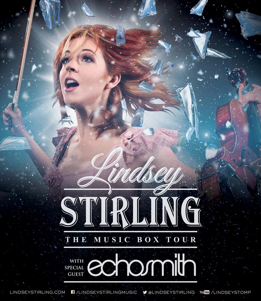 Lindsey Stirling - The Music Box Tour - Echosmith - poster
