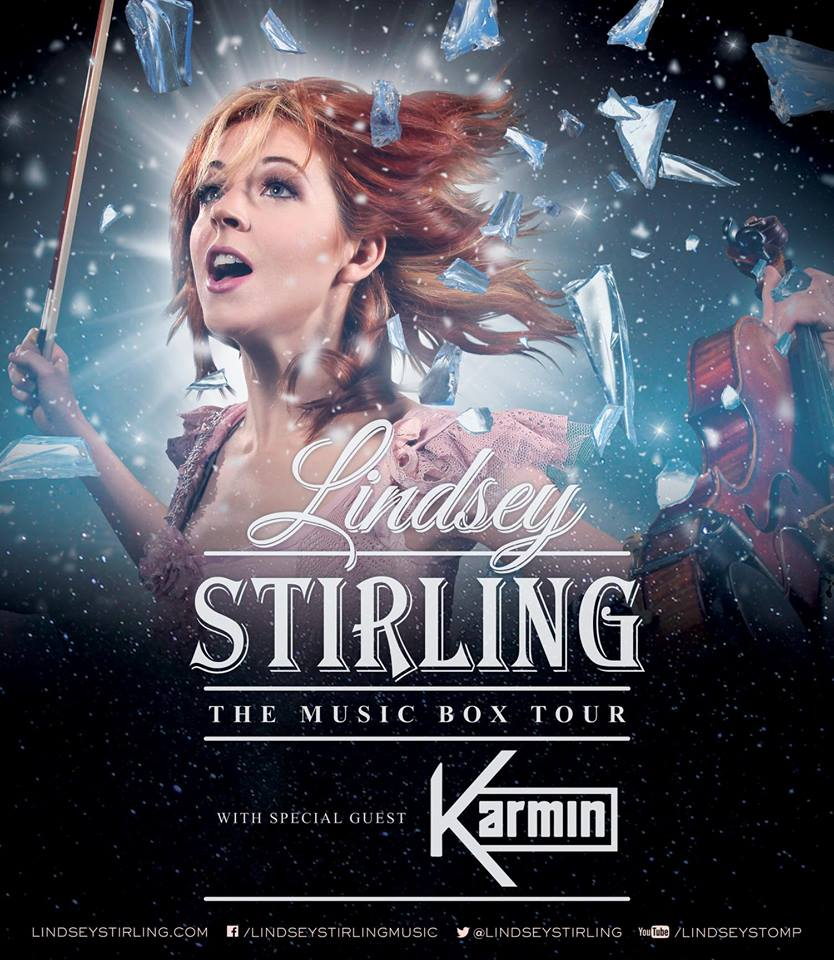 Lindsey Stirling - The Music Box Tour - Karmin - poster