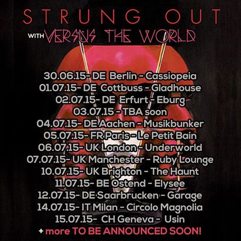 Strung Out - European Tour With Versus The World - poster