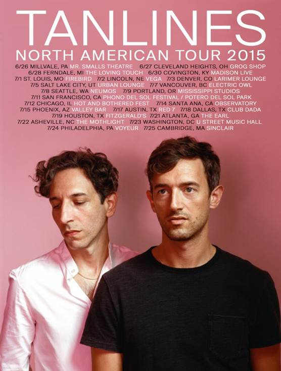 Tanlines - North American Summer 2015 Tour - poster