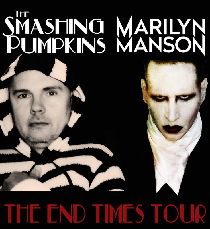 The Smashing Pumpkins - The End Times Tour With Marilyn Manson - poster