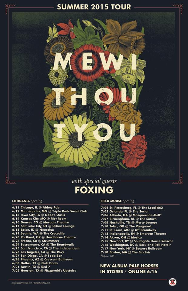 mewithoutyou - U.S. Summer Tour 2015 - poster