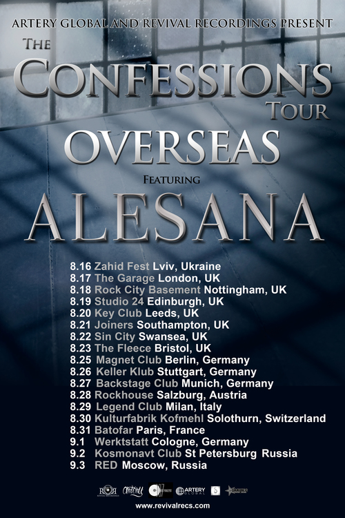Alesana - The Confessions Tour Overseas - poster