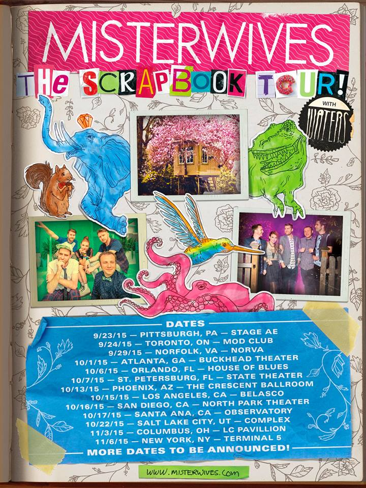 Misterwives - The Scrapbook Tour - poster