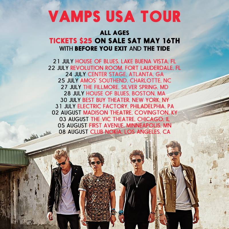 The Vamps Tour Chicago