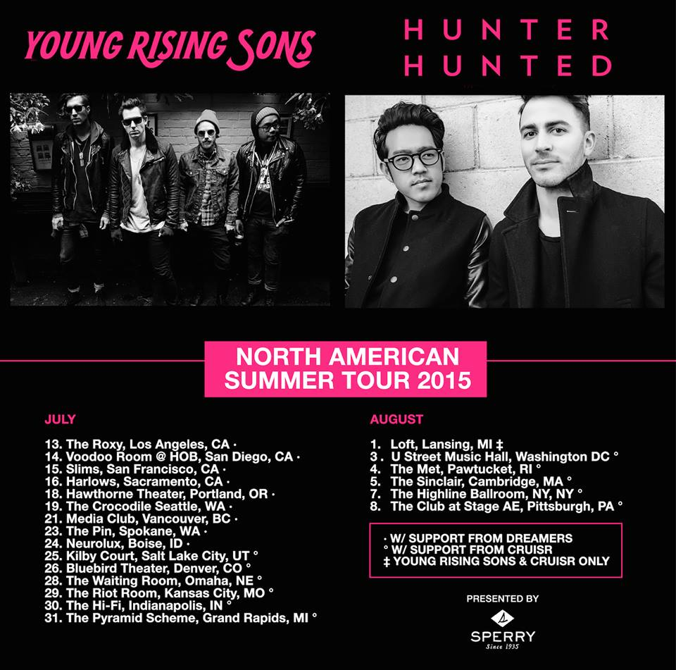 Young Rising Sons - North American tour with Hunter Hunted - promo