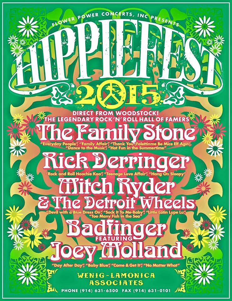 The Family Stone - Hippiefest Tour 2015 - poster