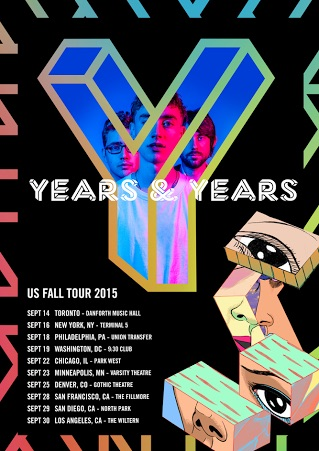 Years & Years - 2015 Tour Poster