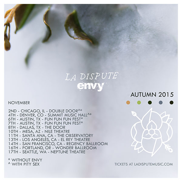 La Dispute - Autumn U.S. 2015 Tour