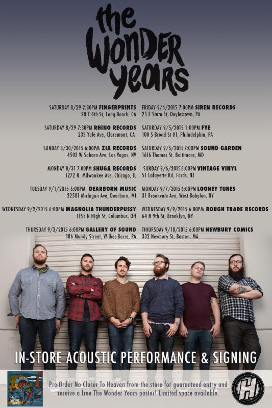 The Wonder Years Announces In Store Acoustic Tour