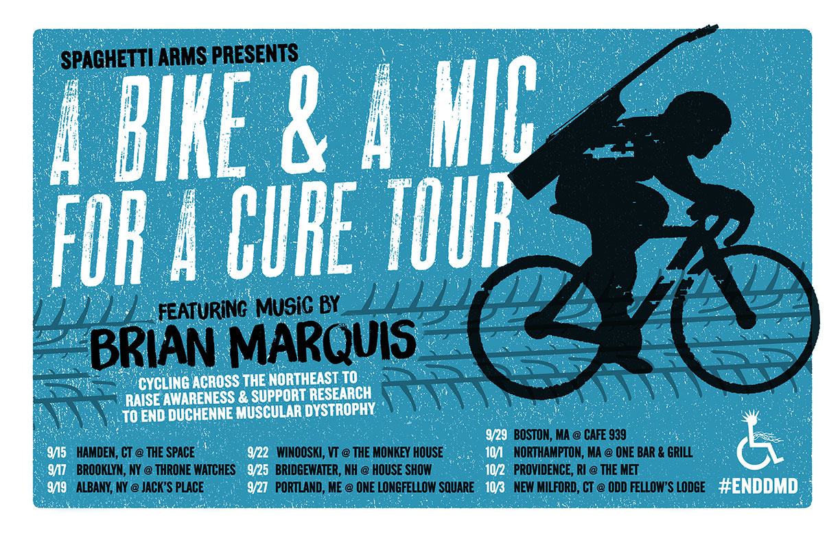 Brian Marquis - A Bike & A Mic For A Cure Tour - 2015 Tour Poster