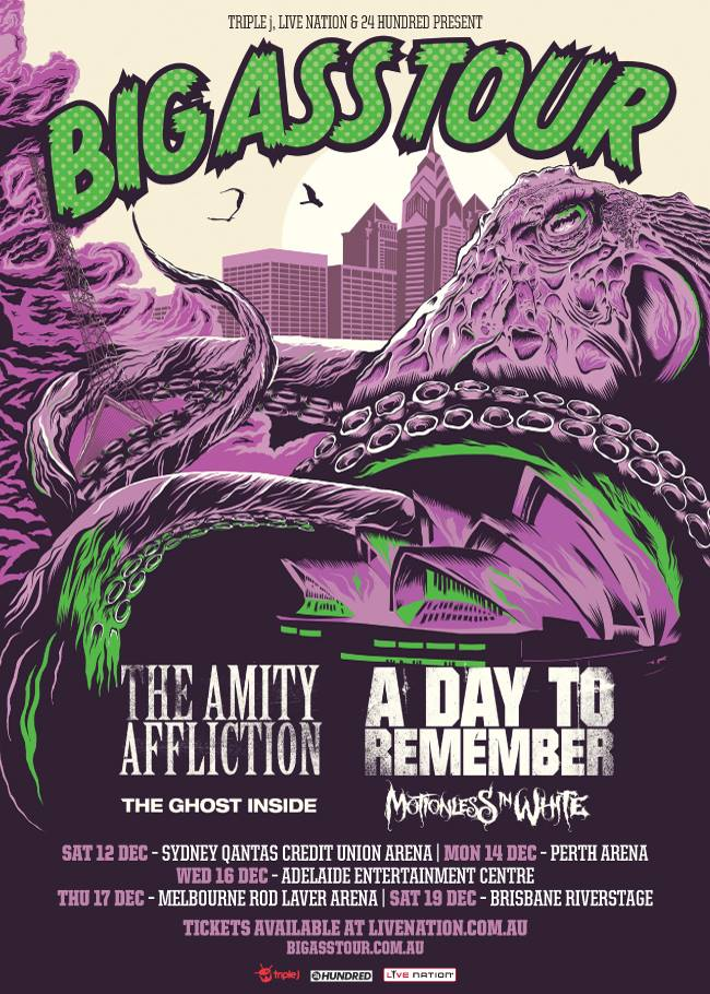 The Amity Afflition - Big Ass Tour With A Day To Remember - poster
