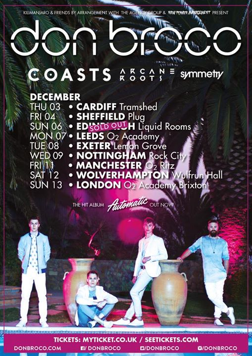 Don Broco - December 2015 UK Tour - poster