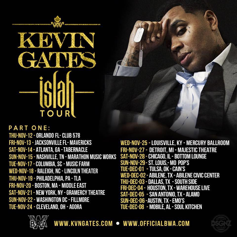 Kevin Gates Announces The Quot Islah Tour Quot In North America