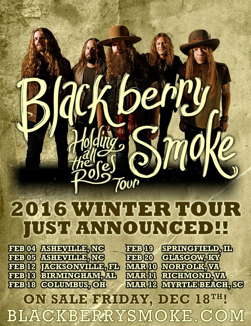 blackberry smoke announce holding all the roses tour digital tour bus. Black Bedroom Furniture Sets. Home Design Ideas