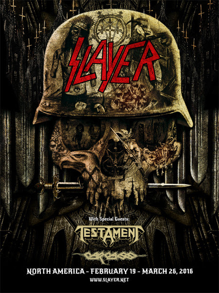 Slayer - North American Tour - 2016 Tour Poster