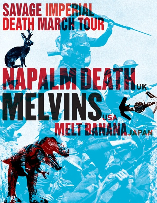 the melvins & napalm death-savage imperial death tour-poster